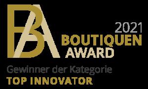 Boutiquen Award 2021 Top Innovator